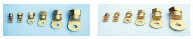 接线端子的构造 压装式接线端子由压装螺母,锥形压接块,端子本体三大